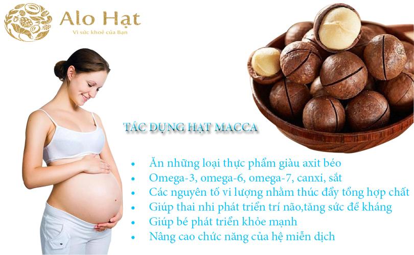 Tác dụng của hạt macca với người mang thai